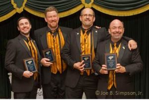 Supersonic 2015 District Quartet Champion Justin Slack, James Monday, Kier Klepzig, Kevin Kehres Asheville, NC