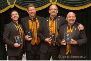 Supersonic 2015 District Quartet Champion Justin Slack, James Monday, Kier Klepzig, Kevin Kehres Asheville, NC